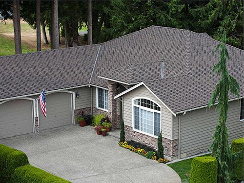 Paramount Advantage Oakwood Roof on house